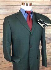 Banana Republic Gray Linen Slim Fit 3 Button Suit Men 38R 30x30 Flat Front Italy
