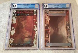 SANDMAN #1~Morpheus CGC 9.0 & SANDMAN #4~Lucifer Morningstar CGC 9.2 !GREAT SET!