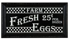 Fresh Eggs WOOD Sign distressed rustic vintage country kitchen farm house decor