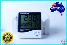 AU STOCK - LCD Digital Thermometer Humidity Temperature Alarm Clock Hygrometer
