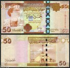 50 DINARS LIBYA 2009 UNC (Uncirclulated) GADAFFI  GUDDAFY QADDAFI BANKNOTE