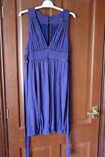 Miss Selfridge purple V-neck tunic, size 12, Viscose, fully lined