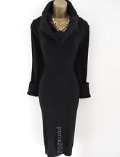 Size UK 12 14 Karen Millen 3 Trenzado Cable de punto lana de cordero ANGORA Cachemira Vestido