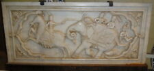 "Marble Carved Relief ""Raga"" Plaque 46x102cm on iron frame Base."