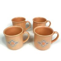 Set of 4 Vintage Treasure Craft Coffee Mugs Southwest Made in Japan Aztec