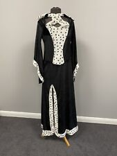 Ex Hire Fancy Dress Costume - 101 Dalmatian Cruella De Ville Black & White Dress