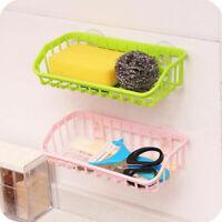 Double Suction Cup Sink Sponge Soap Holder Kitchen Bathroom Drain Storage Rack*
