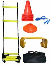 Mark Soccer Training Set Agility Ladder & Speed Cones Exercise Workout Equipment
