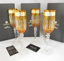 Rosenthal VERSACE Prestige Gala Amber 4 x Sekt - Glas  24 cm Neu & Ovp 0,18 L.