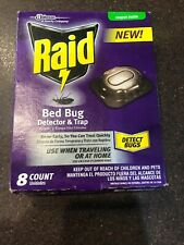 Raid Bed Bug Detector and Trap, 8 Count New! Detect Bugs