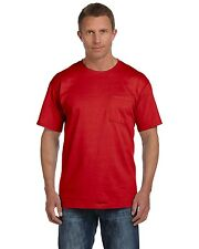 Fruit of the Loom Mens HD Cotton T Shirt with Pocket Tee S-3XL 3930PR - 3931P