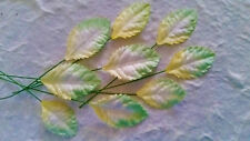 50 Mulberry Paper LEAVES PRL/LG::: 2 sizes 25-35mm Scrapbook Card Embellishments