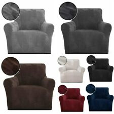 Velvet Chair Cover Jacquard Stretch Slipcover Protector for Leather Couch Cover