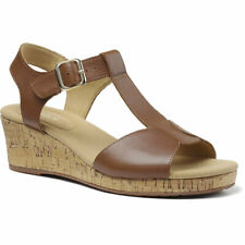 Hotter Women's Martinique Wedge Sandal Leather Buckle Fastening Adult Sandals
