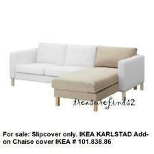 IKEA COVER for Karlstad Chaise Add-on Karlstad Longue Sivik Beige Slipcover New