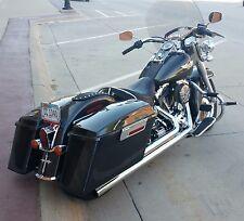 Mutazu Fat Ass Wide Width Hard Saddlebags For Harley HD Touring FLHR FLHT FLTR