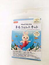 DAISO Wool Felt Kit Mermaid Rabbit Handmade Craft from Japan F/S