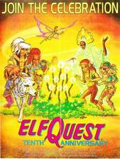 1988 Wendy Pini Elfquest 10th anniversary poster - 17 x 22