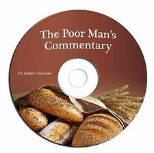 Poor Man's Bible Commentary-Robert Hawker-Christian Scripture Study-CD eBook PDF