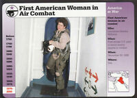KENDRA WILLIAMS 1st US Woman Pilot in Combat Photo GROLIER STORY OF AMERICA CARD