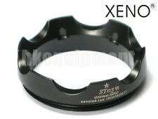 XENO ST03 Stainless Steel Tactical Lens Crenellated Flashlight Bezel 6p 9p Black