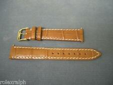 LONGINES BROWN  LONGINES GOLD BUCKLE 16MM NOS