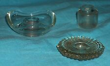 3 Glass Candleholders - Incense Burners