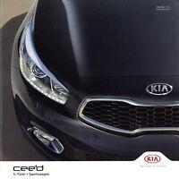 Kia Ceed Prospekt 2015 1/15 Autoprospekt brochure prospectus brosjyre broschyr