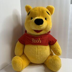"Winnie Pooh Large Stuffed Bear Animal Plush Disney Mattel 20"" Collectible."