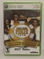 New Sealed World Series of Poker Tournament of Champions 2007 Edition - Xbox 360