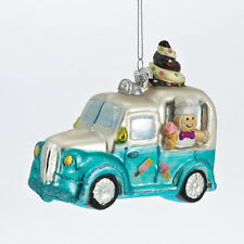 ICE CREAM TRUCK Car Glass Ornament  Christmas Decor NEW Soft Serve Softie