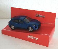 SCHUCO  -  Porsche Macan Turbo - blau - 20137 - 1:64 - Modellauto - Neu