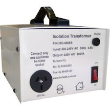 ISO600ES-240V TORTECH 600Va Isolation Transformer Mains Electrostatic Screen All
