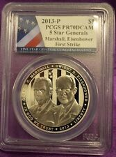 2013 Proof Generals silver dollar, Very low mintage for silver proofs PCGS PR-70