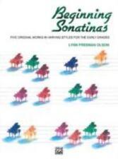 Beginning Sonatinas (1984, Paperback) PIano Book