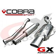 VX74 Cobra Sport Vauxhall Astra H SRI 2.0T 04-10 Cat Back Exhaust Resonated