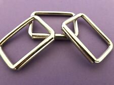 """HEAVY DUTY LARGE  D Link Ring RECTANGLE SQUARE CRAFT BAG Hand Buckle 2"""" 50MM#"""
