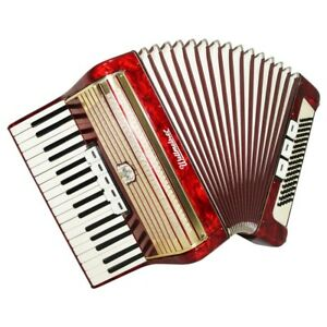 High Quality Vintage Accordion Weltmeister 80 Bass, made in Germany, Case, 1580