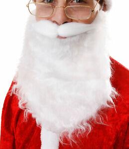 Santa Beard - Claus Wizard Fancy Dress Man Nativity Accessory Father Christmas