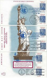UNITED STATES - 1986 AFDSC STATUE OF LIBERTY FIRST DAY COVERS FDC