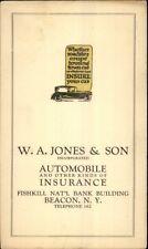 Beacon NY WA Jones & Son Automobile Insurance Co Fishkill Nat'l Bank Bldg PC