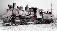 Southern Pacific Narrow Gauge Engine 9 at Keeler, CA in 1949 - 8x10 Photo
