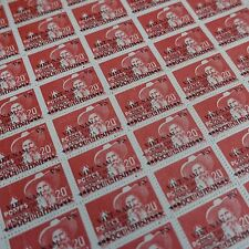 FEUILLE SHEET VIETNAM N°7 x50 1945 NEUF ÉMIS SANS GOMME