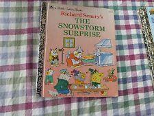 LITTLE GOLDEN BOOK - RICHARD SCARRY'S THE SNOWSTORM SURPRISE