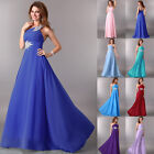 One Shoulder Chiffon Evening Wedding Party Ball Gown Prom Bridesmaid Long Dresse