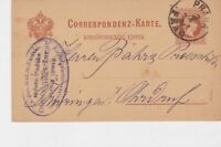 austria 1884  stamps card ref 20952