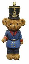 Baignoir Bear soldat figurine avec veste bleue et casquette 24 cm Tall Ornement