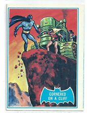 1966 Topps Batman Blue Bat with Bat Cowl Back (19B) Cornered On A Cliff