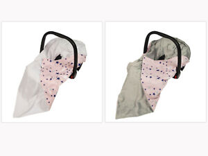 New Girls Pink Galaxy Stars Baby Wrap For Car Seat / Car Seat Blanket / Cosytoes