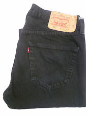 LEVI'S 501 JEANS HIGH WAISTED STRAIGHT LEG W36 L32 STRAUSS BLACK # LEVG277